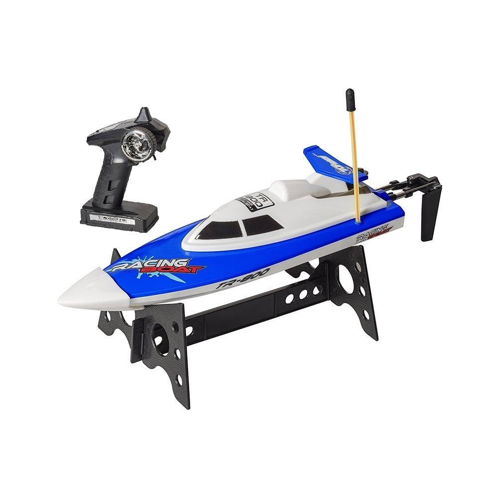Top Race Remote Control Water Speed Boat, Perfect Toy For Pools And Lakes, BLUE, 27Mhz (TR-800)