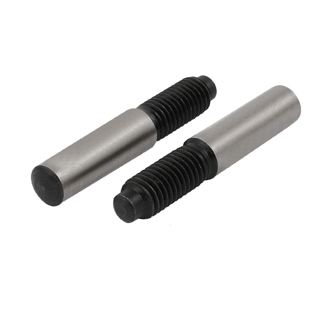 Unique Bargains M10x28mmx60mm 45# Carbon Steel External Thread Metric Taper Pin Fasteners 2pcs - image 3 de 3
