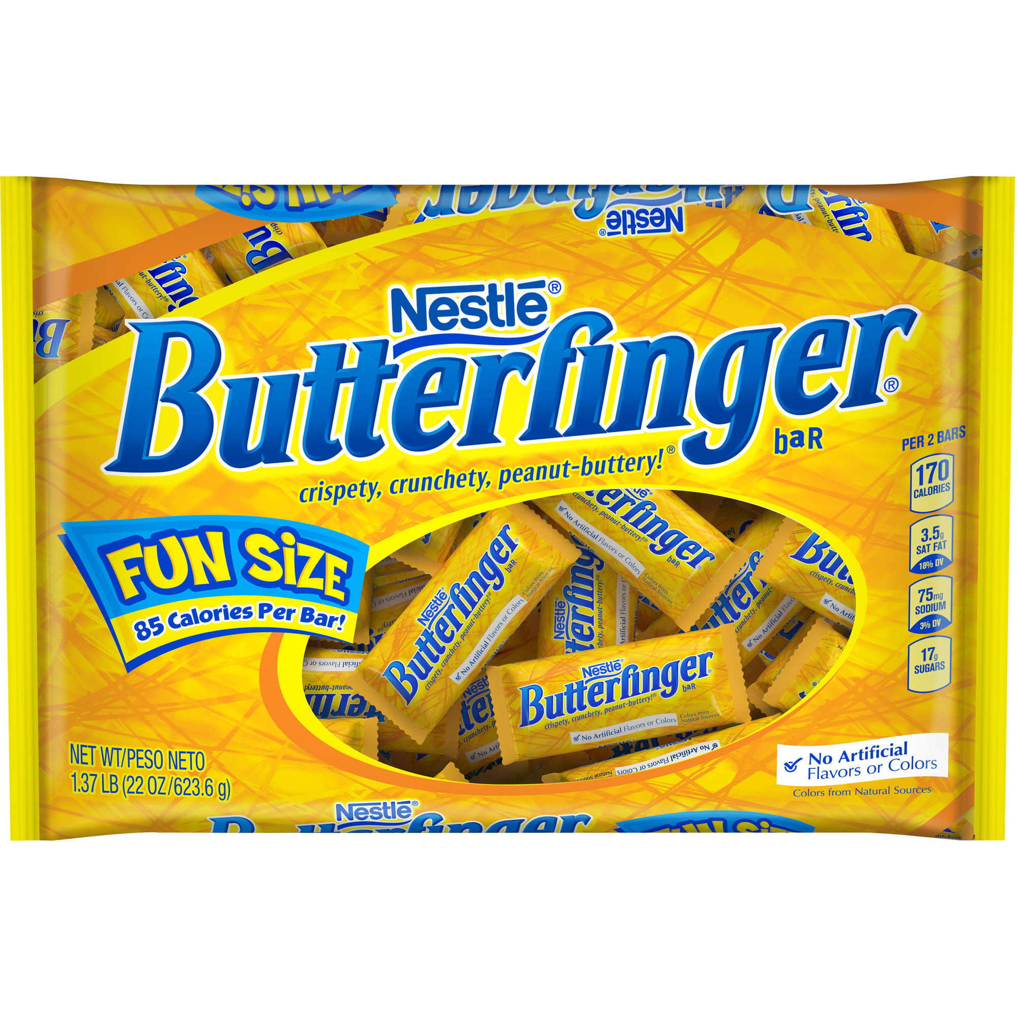 Butterfinger Fun Size Chocolate Halloween Candy Bars, 22 oz