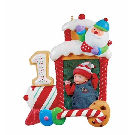 Babyprints Ornament - Hallmark Ornament 2011 Babys First Christmas Photo Holder
