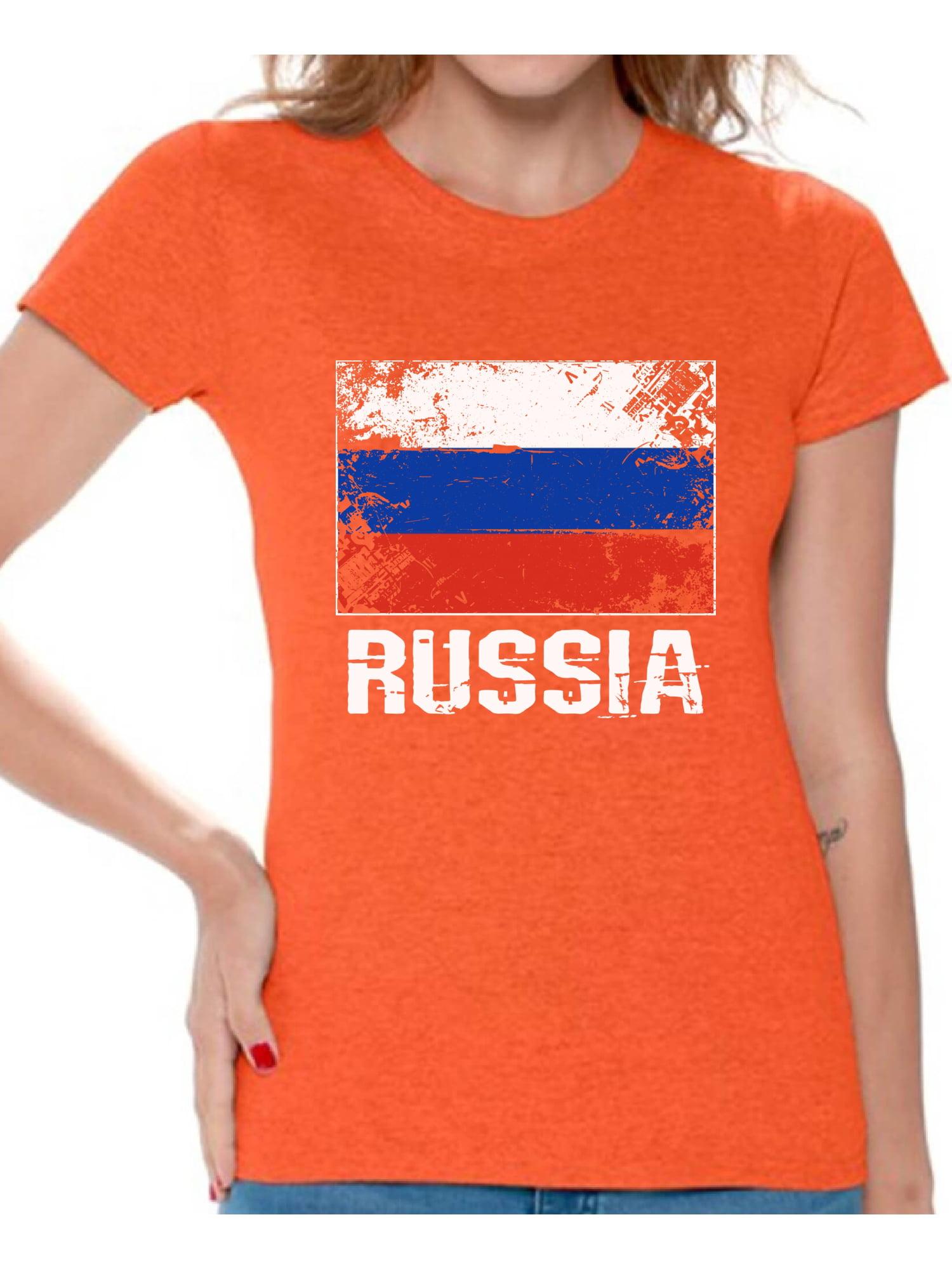 Russia Fun Themed Mens T-Shirt Novelty Russian I LOVE FOOTBALL Sport