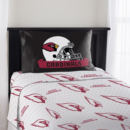 NFL Arizona Cardinals Monument Twin Sheet Set, 1 Each