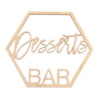 Koyal Wholesale Wood Desserts Bar Sign, Party Banner, Decorations For Wedding Engagement Babtism Baby Shower Birthday