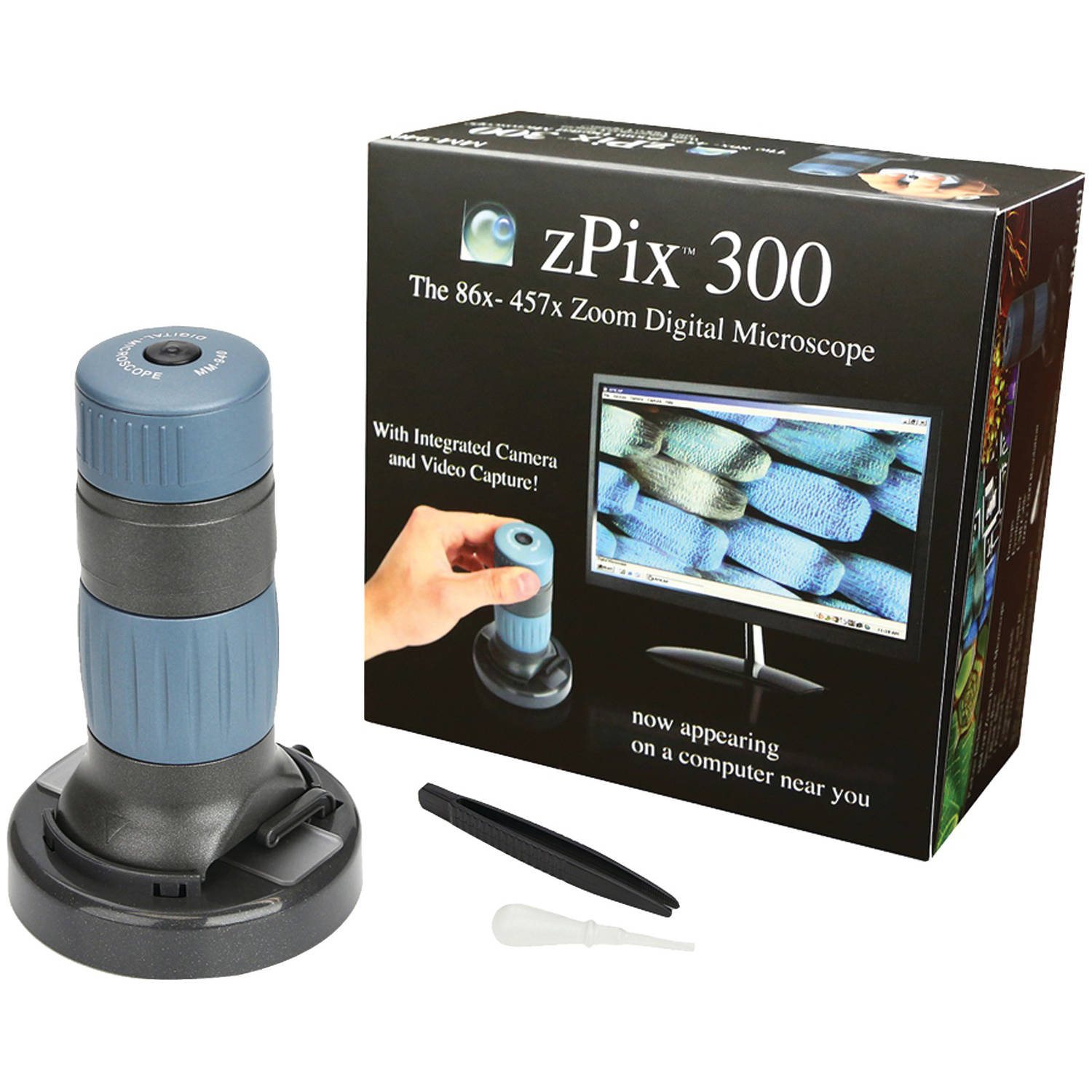 Carson Optical MM-940 zPix 300 86x-457x Digital Microscope with Integrated Camera