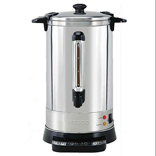 Nesco Cu-50 Urn - 950 W - 50 Cup[s] - Stainless Steel - Stainless Steel (cu-50)