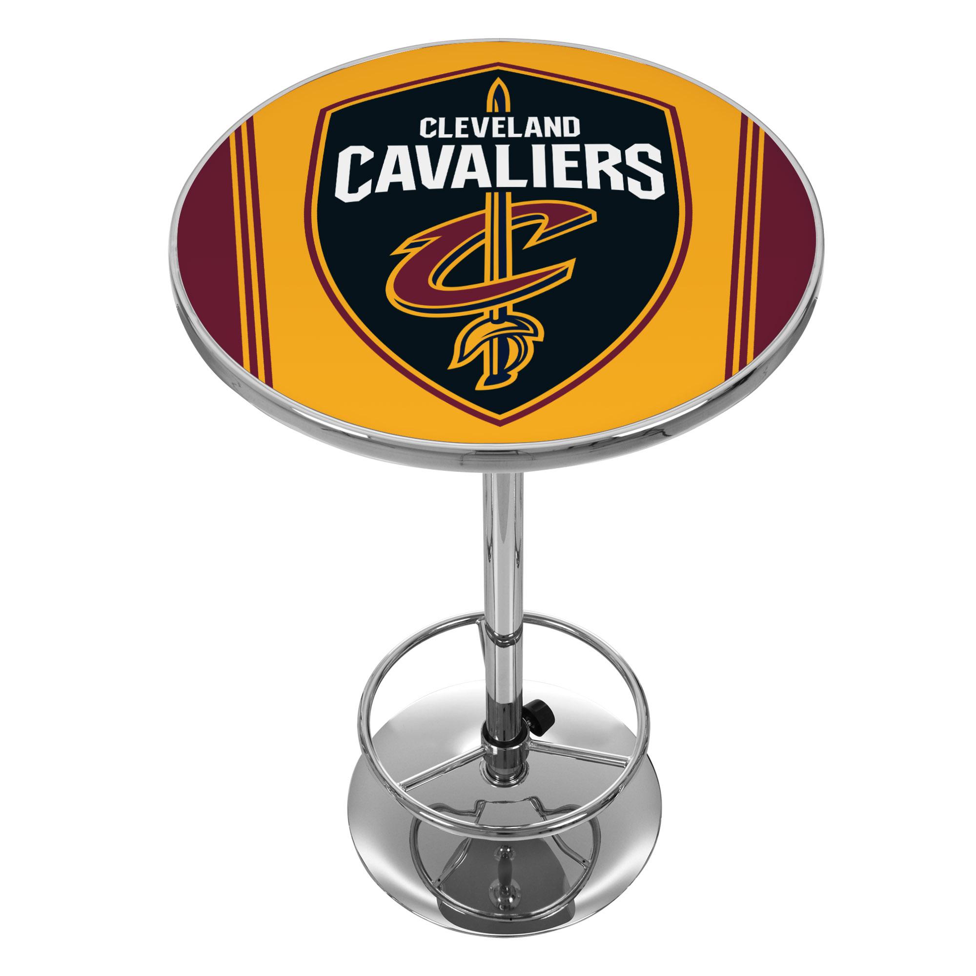 "Trademark NBA Cleveland Cavaliers 42"" Pub Table, Chrome"