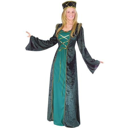 Emerald Lady in Waiting Adult Costume - Costume Stores In Cleveland Ohio