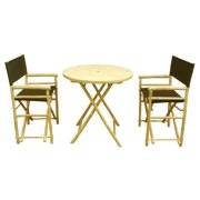 Phat Tommy Foldable 3 Piece Patio Bistro Set