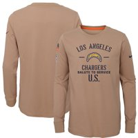 Los Angeles Chargers Nike Youth 2019 Salute to Service Performance Long Sleeve T-Shirt - Khaki
