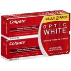Colgate Optic White Sparkling Mint Toothpaste, 3.5 oz, (Pack of 2)