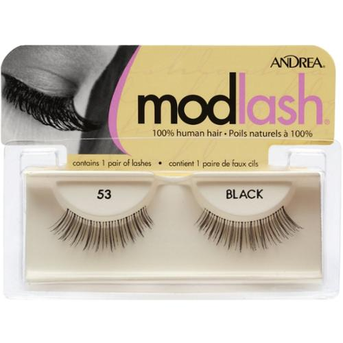Andrea Mod Lash False Eyelash Strips, Black [53] 1 ea (Pack of 2)