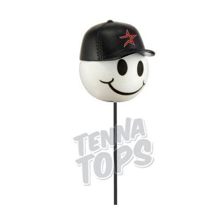 Astros Baseball Car Antenna Topper + Yellow Smiley Antenna Ball