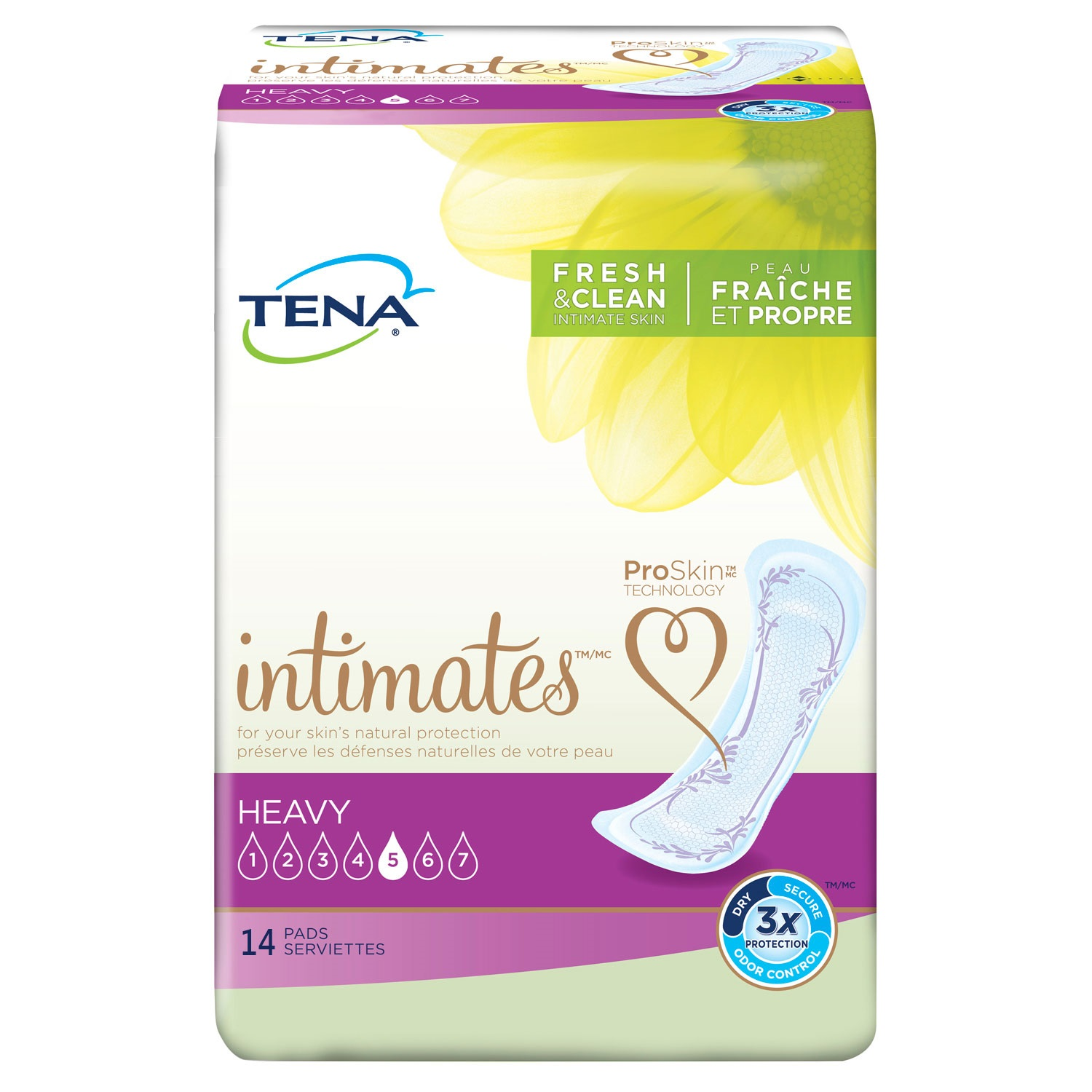 Tena Incontinence Pads for Women, Heavy, Regular, 14 Count