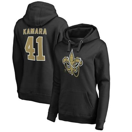 Alvin Kamara New Orleans Saints Nfl Pro Line By Fanatics Branded Women S Mardi Gras Name Number Pullover Hoodie Black