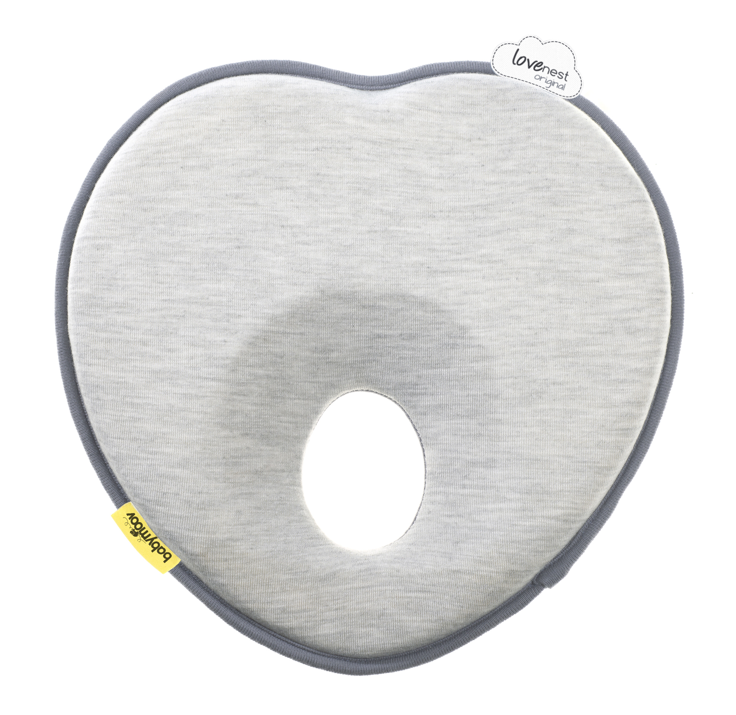 Babymoov Lovenest � Patented Pillow For Baby and Infant Head Support & Flat Head Syndrome Prevention (Smokey) by BABYMOOV