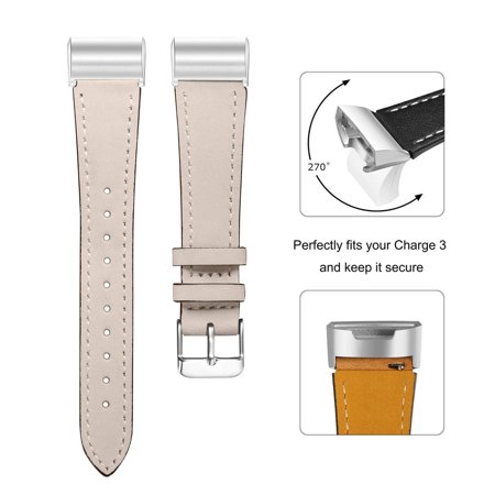 Luxury Leather Replacement Accessories Wristband Straps For Fitbit Charge
