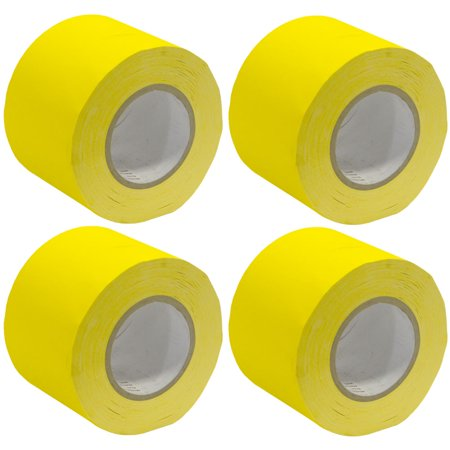 Seismic Audio 4 Pack of Gaffer's Tape - Yellow 4 inch Rolls 60 Yards per Roll Gaffers Tape - SeismicTape-Yellow604-4Pack