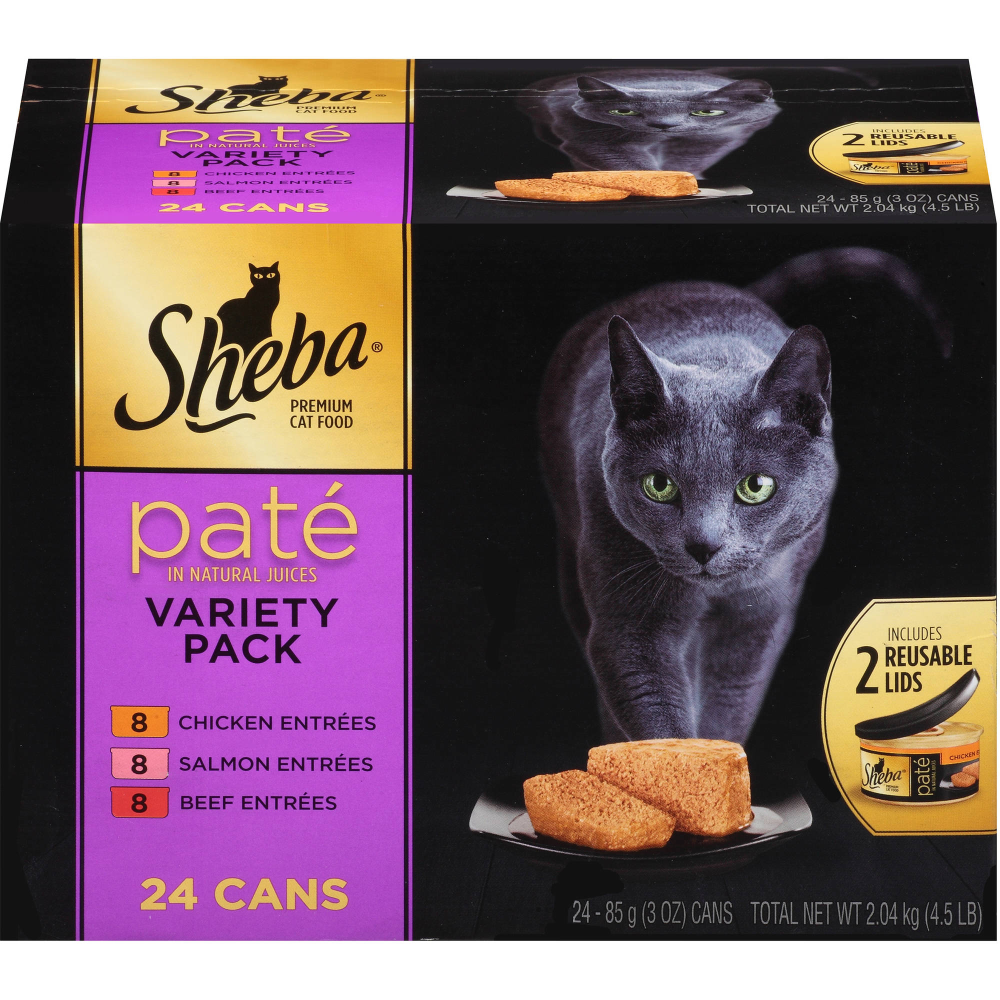 Sheba Variety Pack Premium Pate Premium Canned Cat Food, 3 oz, 24-Pack
