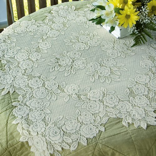 Heritage Lace Tea Rose Table Topper