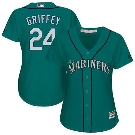Ken Griffey Jr. Seattle Mariners Majestic Women's Cool Base Player Jersey - Aqua ()