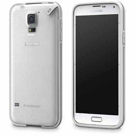 buy online 10bc9 8ec2b Slim Shell Case for Samsung Galaxy S5 - Clear/White