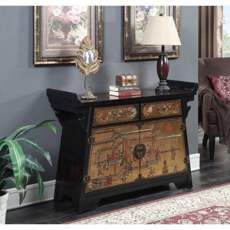 Convenience Concepts Touch Of Asia Cabinet Console Tv Stand