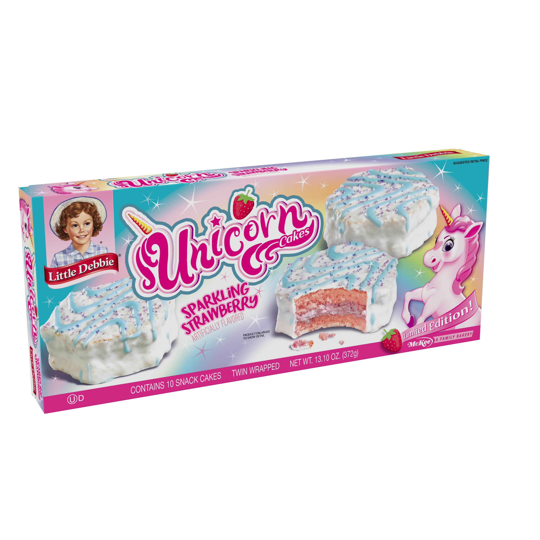 Little Debbie Unicorn Cakes Strawberry 10 Count 13 10 Oz Walmart Com
