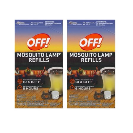 2 Two Lamp ((2 pack) OFF! Mosquito Lamp)