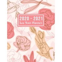 2 Year Monthly Planner 2020-2021: 2020-2021 Two Year Planner: 2020-2021 two year planner flower watecolor cover - Jan 2020 - Dec 2021 - 24 Months Agenda Planner with Holiday - Personal Appointment ( S