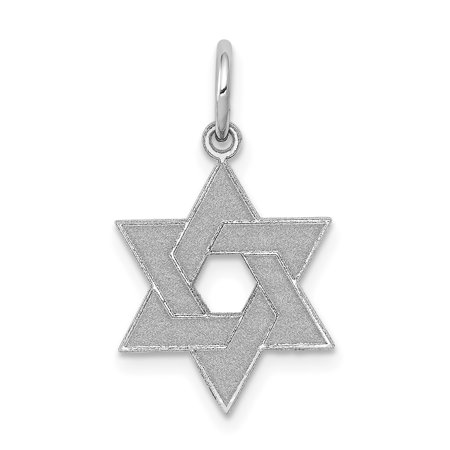 14k White Gold Laser Designed Jewish Jewelry Star Of David Pendant Charm Necklace Religious Judaica Gifts For Women For Her