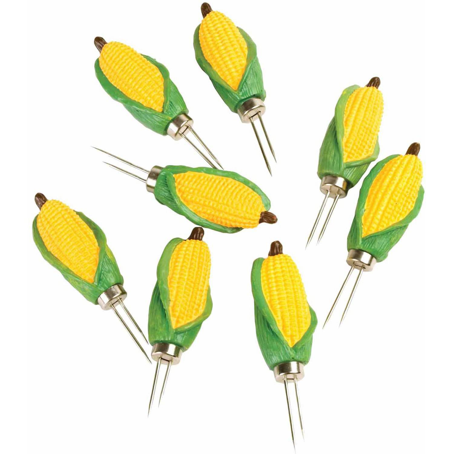The Charcoal Companion Classic Mini-Corn Corn Holders, 4 Pairs, CC5038