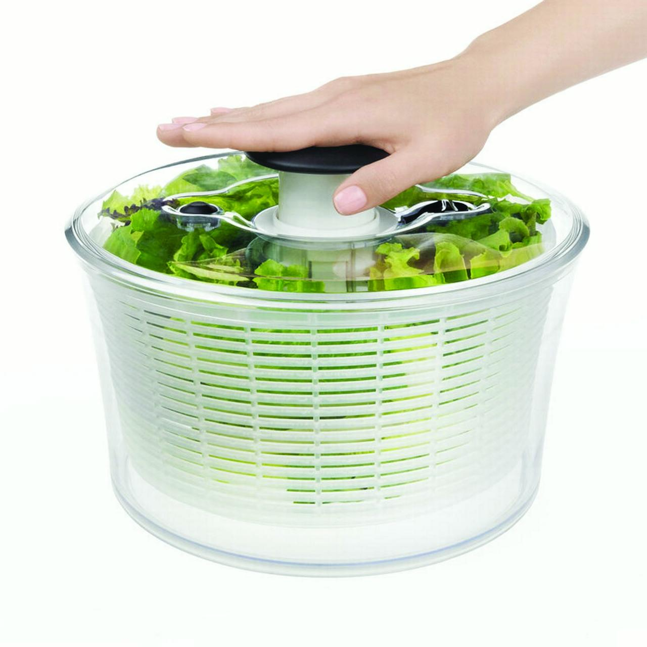 Good Grips 1045409 Salad/Herb Spinner, 8 in L x 8 in W x 7 in H