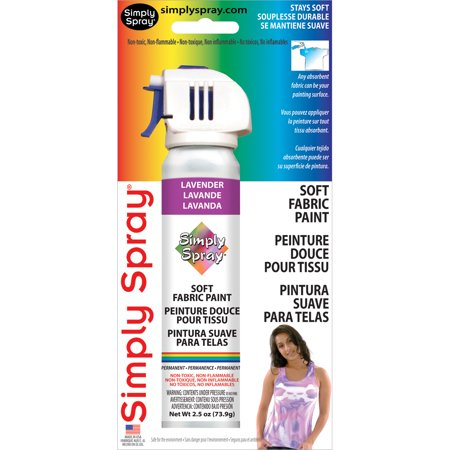 simply spray soft fabric paint 2 5 ounces lavender. Black Bedroom Furniture Sets. Home Design Ideas