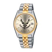 US Air Force 2 Tone Womens Bracelet Watch