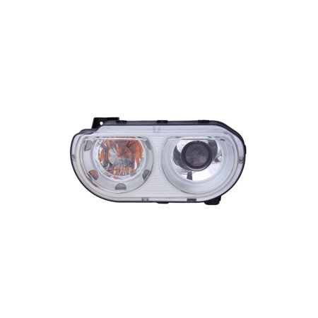 Replacement Driver And Passenger Side Headlight For 08-10 Dodge Challenger