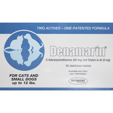 - Nutramax Denamarin Liver Health Supplement Tablets for Cats & Small Dogs, 30 Tablets