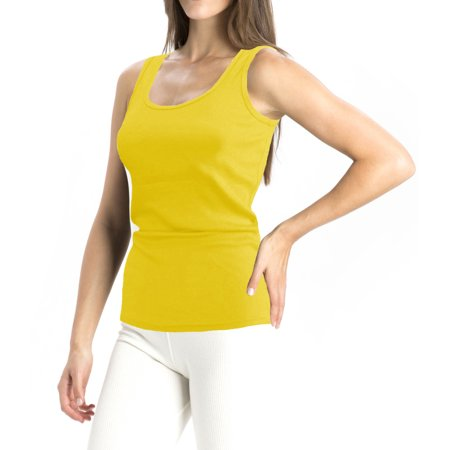 A women's Regular Tank Tops Yellow Small
