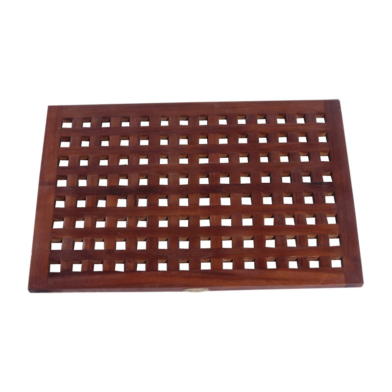 Decoteak 23 x 15 in. Grate Teak Spa Shower and Floor Mat