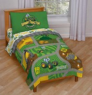 MadieBs John Deere Tractors with Logo in Pink Dots Crib or Toddler Bed Sheet Set 3 pc personalized