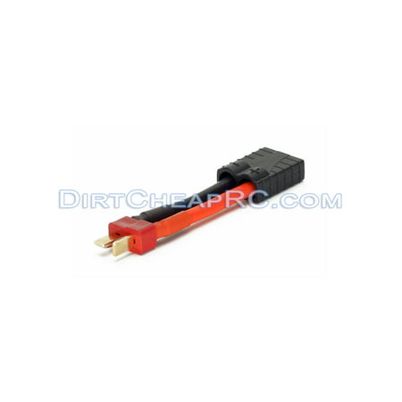 High Current Adapter - Traxxas TRX High Current Female to Deans Ultra (T-Plug) Male (12AWG) - For Battery, ESC, or Charger (Leads, Cables, Wires, Connectors, Plugs)