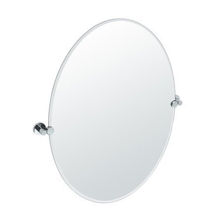 Gatco Glass Mirror - Gatco Channel Oval Wall Mirror