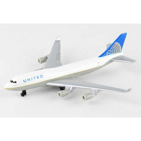 United 747 Single Plane, White - Daron RT6264 - Diecast Model Airplane Replica