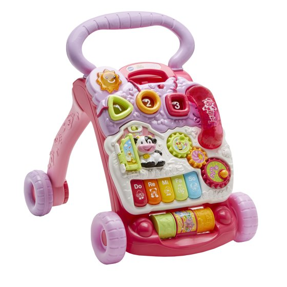 Vtech Sit To Stand Learning Walker Pink Walmart