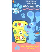 Blue's Clues ABC's and 123's VHS Nick Jr. Letters & Numbers Learning Fun *TESTED by