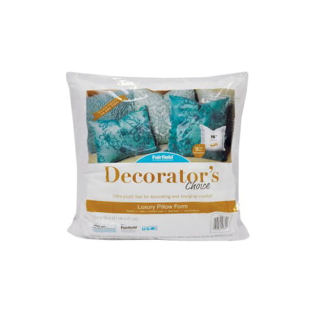Fairfield Decorator's Choice Pillow Insert 40 X 40 Walmart Awesome 16x16 Pillow Insert Walmart