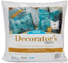 "Fairfield Decorator's Choice Pillow Insert, 16"" x 16"", 1 Each"
