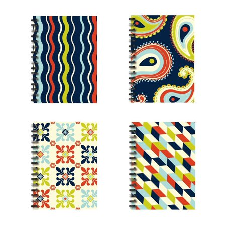 Spiral Bound Thick Notebook Set (4 Notepads Total) 5.5