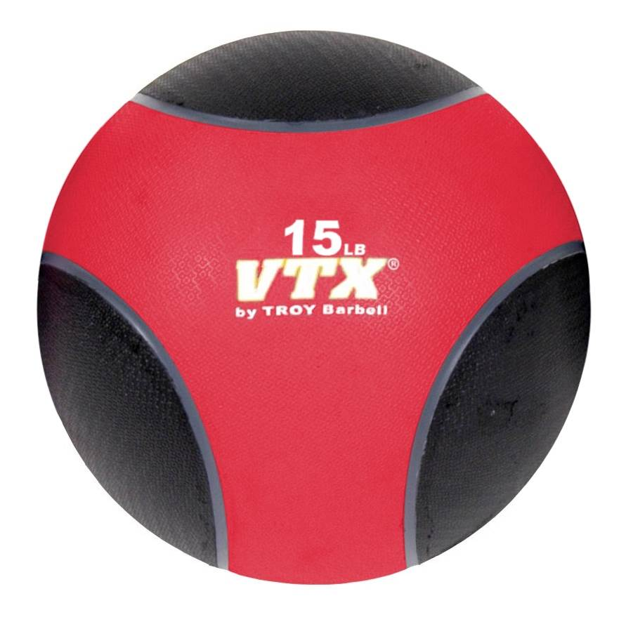 15 lbs. VTX Medicine Ball - Red and Black