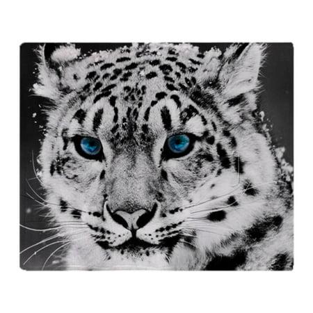CafePress - Leopardo Snow - Soft Fleece Throw Blanket, 50