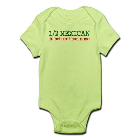 7e00d5213 CafePress - CafePress - Half Mexican Infant Bodysuit - Baby Light Bodysuit  - Walmart.com
